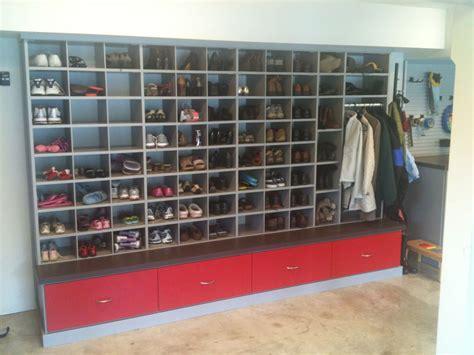 Shoe Rack Garage by Garage Shoe Storage On