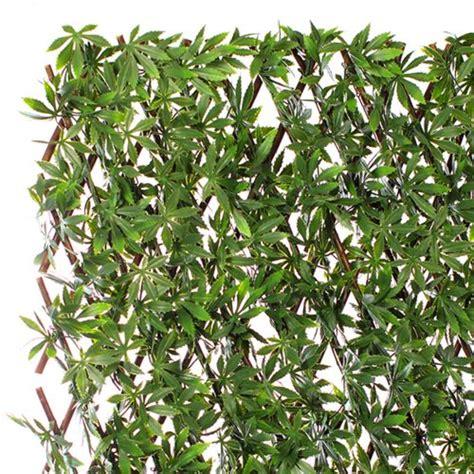 leroy merlin haie artificielle jardin artificiel treillis extensible en bois de saule feuillage artificiel chanvre pas cher