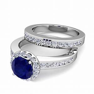 create your own halo engagement ring bridal set with gemstones With create your own wedding ring set