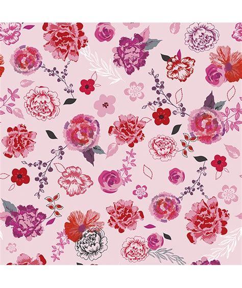 papier peint intiss 233 fleurs roses et rouges chambre d