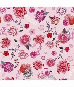 papier peint intisse fleurs roses et rouges chambre d With chambre bébé design avec envoyer des fleurs en espagne