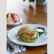 Recette  Hamburgers Aux Crevettes Et Au Maïs Frais
