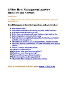 Hospitality Interview Questions and Answers