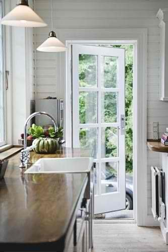 single french door perfect  kitchen  deck cute