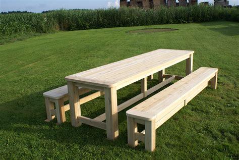 Fabriquer Une Table De Picnic En Bois  Deco Maison Design