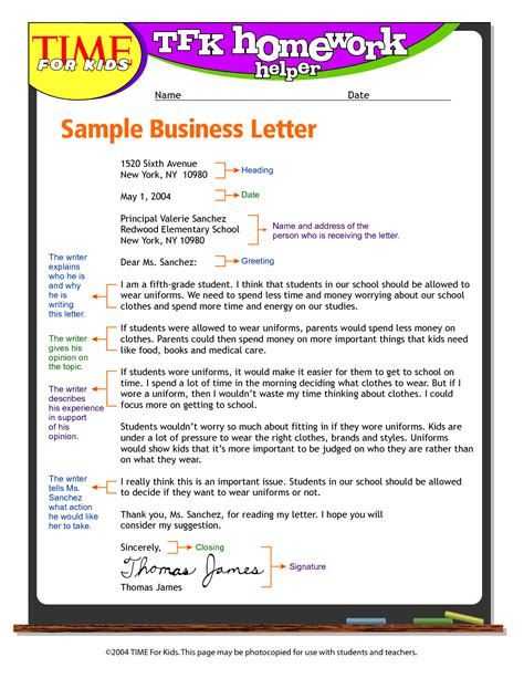 time esl cover letter exandle business letter format for write business