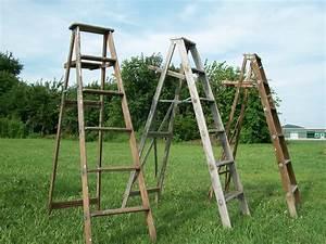 6, Step, Vintage, Wooden, Step, Ladders, For, Decorating