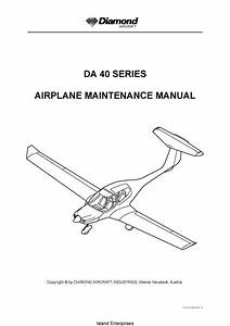 Diamond Da 40 Series Aircraft Maintenance Manual 2007