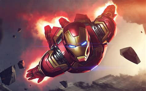 az ironman hero marvel illustration art blue flare wallpaper