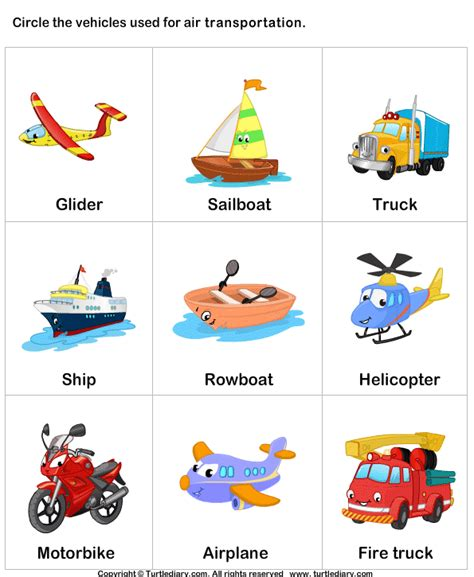 Transport By Air Worksheet  Turtle Diary