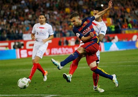 Barcelona 2-0 Sevilla: Jordi Alba and Neymar secure Copa ...