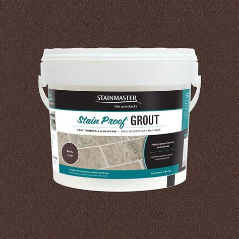 mocha grout shop stainmaster classic collection mocha 11 lb mocha epoxy grout at lowes com