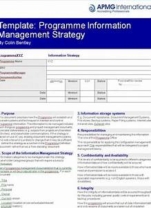 programme information management strategy template apmg With data management strategy template