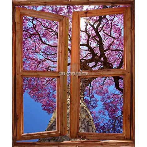 sticker mural fen 234 tre trompe l oeil d 233 co arbre d automne stickers muraux deco