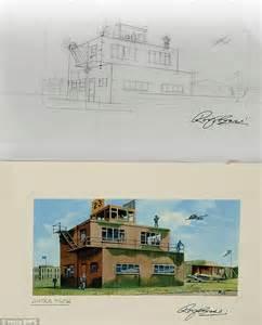 Airfix Model Aeroplane Box Artist Puts Original Sketches