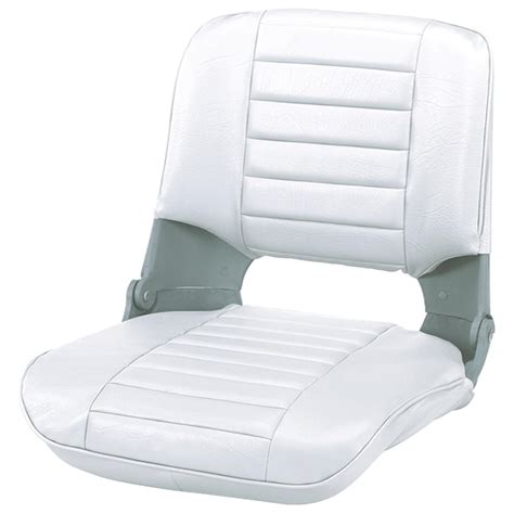 White Folding Boat Seat by Wise 174 Pro Style Folding Fishing Boat Seat 204009 Fold