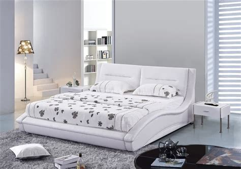 8679 size bed white white leather headboard homesfeed