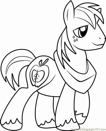 Coloring Pony Pages Mcintosh Friendship Magic Coloringpages101