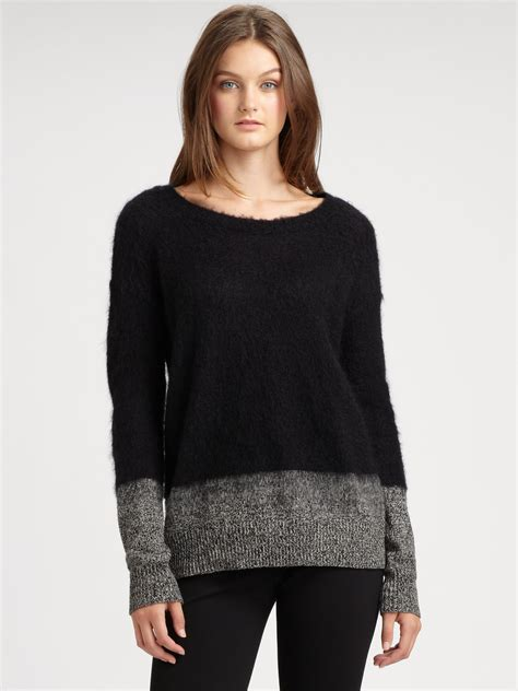 ombre sweater dkny ombre sweater in black lyst