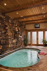Pool, Room, In, Log, House