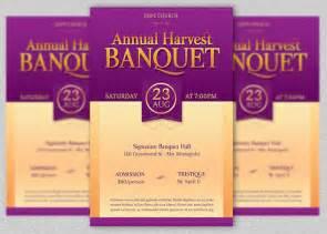 banquet program templates harvest banquet flyer template on behance