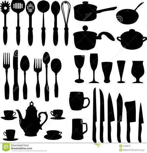 clipart cucina oggetti della cucina illustrazione vettoriale immagine di
