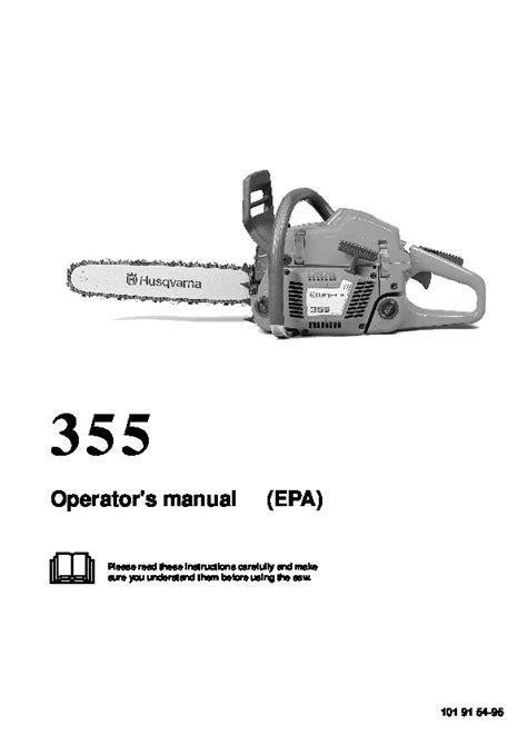Husqvarna 355 Chainsaw Owners Manual, 1995,1996,1997,1998