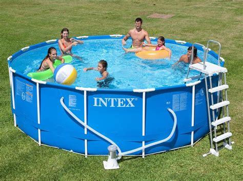 piscine intex 4 57 piscine intex metal frame 4 57x1 22 piscines