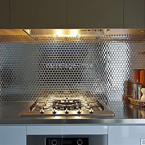 model de faience pour cuisine crédence cuisine inox miroir mosaique salle de bain