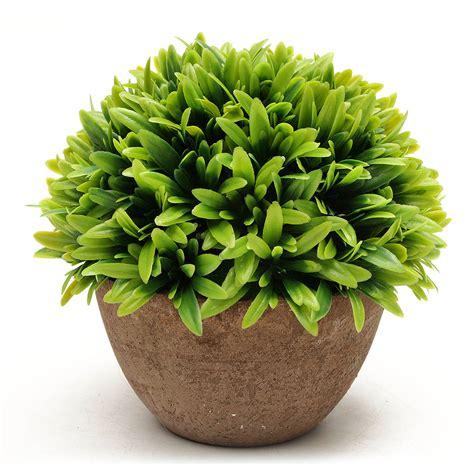 Artificial Topiary Tree Ball Plants Pot Garden Office Home