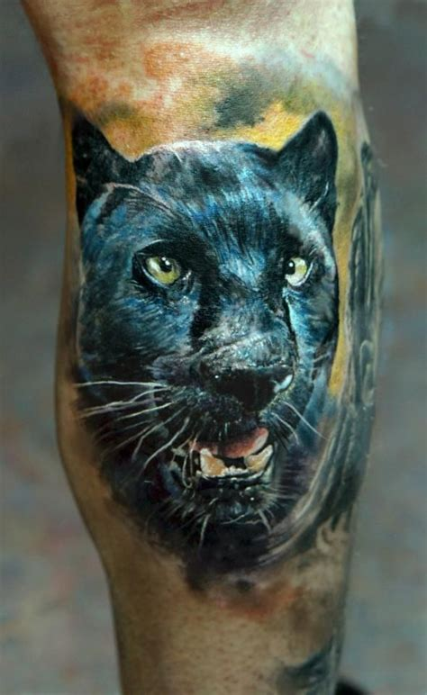 Realistic Black Panther Tattoo  Domantas Parvainis Http