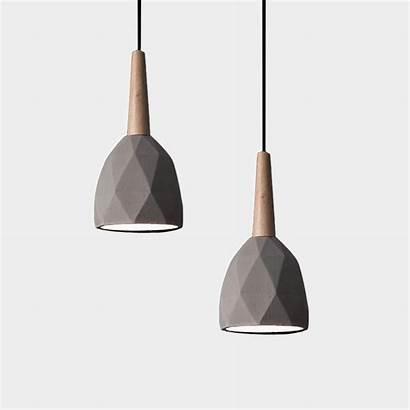 Concrete Pendant Lights Lighting Hanging Lamp Wood