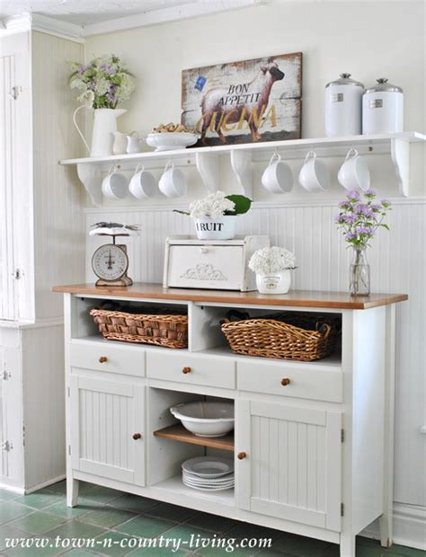 country kitchen storage farmhouse style storage ideas town country living 2896