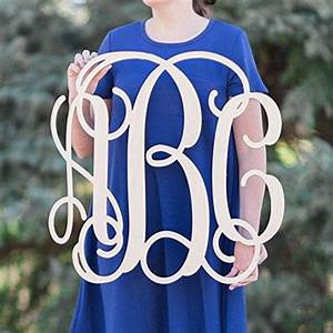 Amazoncom sale 12 36 inch wooden monogram letters vine for Large wooden letters amazon