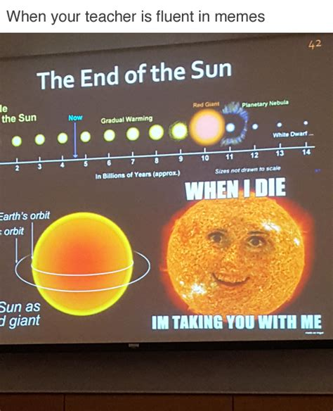 Sun Memes - when your teacher is fluent in memes i am bored