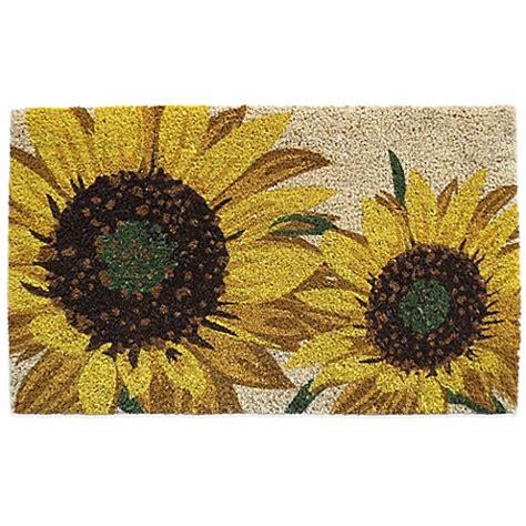 Sunflower Doormat by Nourison Sunflower 18 Inch X 30 Inch Coir Door Mat Bed