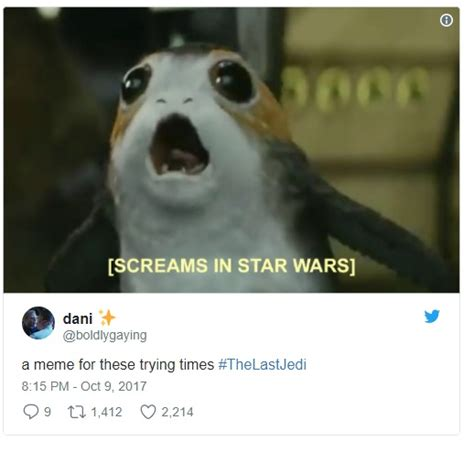 Porg Memes - top 25 reactions to the last jedi trailer babbletop