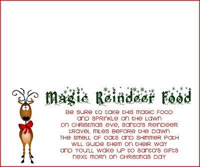 reindeer food recipe  printable  girl creative