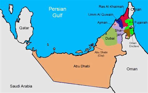 abu dhabi  dubai map  travel information