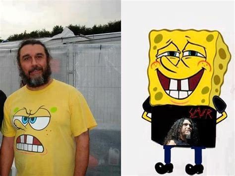Spongebob Ton Meme - slayer tom araya and spongebob metal pants i