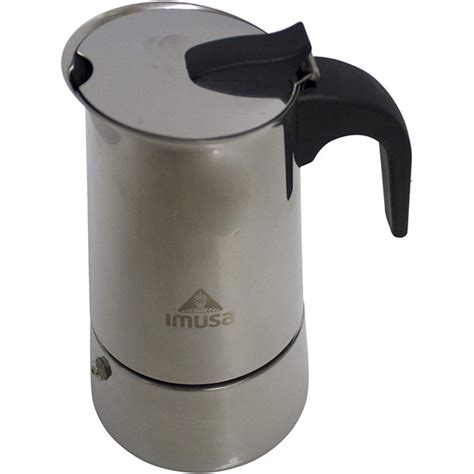 The capacity of this coffee maker is 10 oz. IMUSA USA 4 Cup Stainless Steel Stovetop Espresso Coffee Maker - Walmart.com - Walmart.com