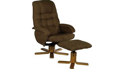 conforama fauteuil de bureau fauteuil relax inclinable et pivotant avec pouf microfibre
