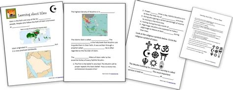 learning  islam  worksheets  resources