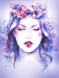 watercolor face girl by LidiaGutman on DeviantArt