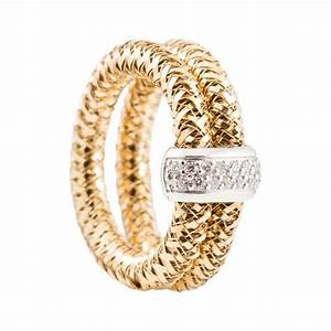 roberto coin primavera yellow gold double stretch ring With stretch wedding ring
