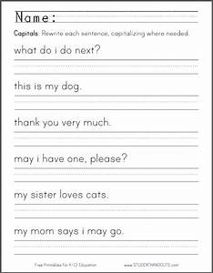 free capitalization worksheets worksheets releaseboard With capital letters lesson plans first grade