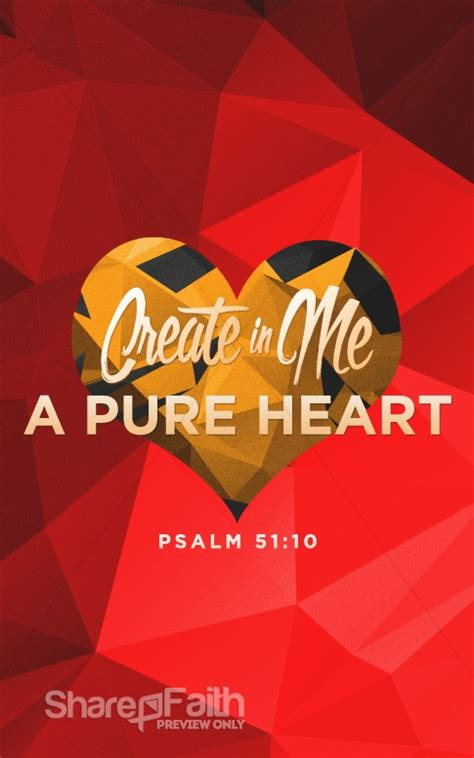 create    pure heart sermon bulletin love bulletin