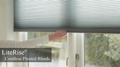 literise cordless pleated blinds youtube