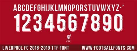 Liverpool 2018-2019 Font (ttf)