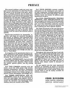 1953 Ford Service Shop Repair Manual